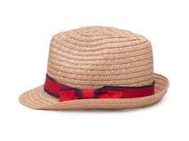 凯维帽业-新款蝴蝶结折边女士沙滩遮阳定型草帽定做-CZ056