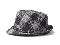 凯维帽业-时尚格子时装遮阳定型草帽 男女款定做-CZ059