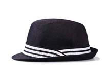 凯维帽业-简约条纹拼色男士折边遮阳时装草帽定做-CZ060