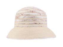 凯维帽业-女士条纹撞色拼接时装沙滩遮阳草帽定做-CZ065