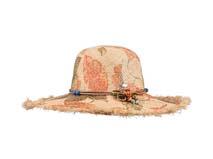 凯维帽业-做旧印花珠子大边遮阳沙滩草帽定做-CZ066