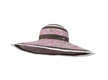 凯维帽业-女士碎花混色拼接大檐遮阳草帽定做 -CZ069