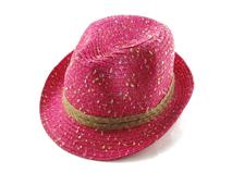 凯维帽业-春夏新款混色点点沙滩遮阳定型草帽定做 -CZ071