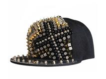 凯维帽业-2015新款柳丁珠子嘻哈街舞平板棒球帽定做-PJ062