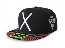 凯维帽业-简约撞色拼接3D绣嘻哈平板街舞帽 男女款定做-PJ063