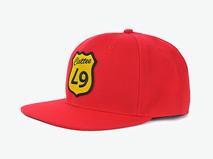 凯维帽业-简约纯色贴布绣嘻哈街舞平板棒球帽定做-PJ066