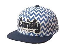 凯维帽业-新款撞色拼接贴布绣菱形条纹街舞棒球平板帽定做-PM069