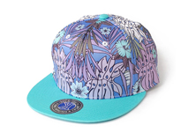 凯维帽业-新款撞色拼接印花嘻哈街舞平板帽 小清新款定做 -PM072