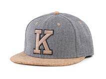 凯维帽业-简约人字斜纹字母绣花撞色拼接街舞嘻哈平板棒球帽定做-PM075