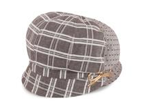 凯维帽业-2015新款格子拼接时装帽-SM020