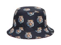 凯维帽业-儿童 女士虎头印花者遮阳渔夫帽 桶帽定做-YM062