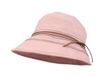 凯维帽业-新款纯色简约女士春夏遮阳渔夫边帽 桶帽定做-YM065