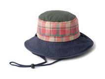 凯维帽业-新款撞色拼接时尚格子户外丛林遮阳大边渔夫帽 男女款定做-YM074