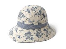凯维帽业-简约碎花 印花户外遮阳大边渔夫桶帽 春夏定做-YM075