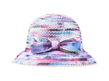 凯维帽业-女士彩色拼接蝴蝶结时装遮阳边帽定做 -YM079