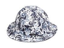 凯维帽业-春夏复古印花户外遮阳两用边帽 桶帽订做-YM082