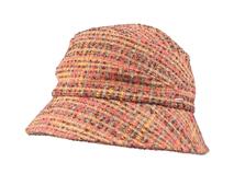 凯维帽业-女士彩色格子时装户外遮阳渔夫边帽定做-YM088