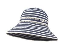 凯维帽业-女士春夏简约透气体条纹户外遮阳帽订制-YM090