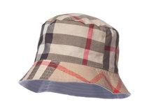 凯维帽业-简约格子正反两用户外遮阳帽 桶帽 儿童 成人款加工定制-YM096