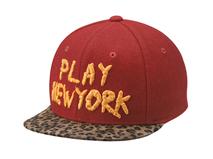 凯维帽业-豹纹帽舌拼接绣花夏季户外棒球帽 儿童 成人款订制 -PM080
