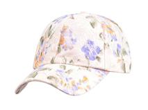 凯维帽业-时尚潮流蕾丝拼接印花六页棒球帽 女士 春夏订制 -BM084