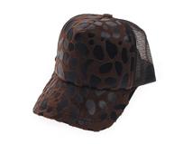 凯维帽业-女士春夏透气豹纹时装五页棒球网帽 鸭舌帽定做-BT086