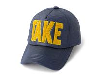 凯维帽业-简约毛巾绣字母 时尚菱格户外运动棒球帽订做-BP087