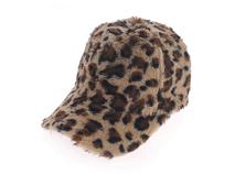 凯维帽业-女士豹纹秋冬户外保暖时装鸭舌帽订做 -BH089