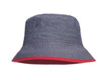 凯维帽业-户外遮阳帽 渔夫边帽 纯色简约 儿童 成人款 广州工厂订做-YM097