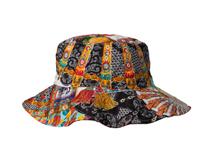 凯维帽业-民族风复古印花大檐户外遮阳帽 儿童 女士 广州工厂订做-YM098