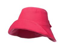 凯维帽业-女士 儿童可折边纯色简约蝴蝶结春夏遮阳桶帽订做-YM100
