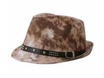 凯维帽业-时尚柳钉爵士帽 礼帽定做 -DM033