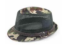 凯维帽业-迷彩透气爵士帽 定型帽定做-DM034