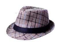 黑白视频体育直播-时尚格子爵士帽 礼帽定做-DM044