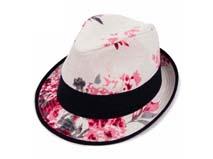 凯维帽业-设计款 印花时尚定型礼帽 -DM045