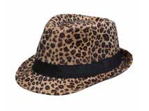 黑白视频体育直播-豹纹时装定型礼帽定做-DT040