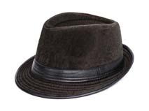 凯维帽业-纯色皮革拼接定型帽定做-DW030