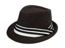 凯维帽业-条纹格子羊毛毡帽定做 -DW031