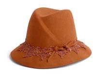 凯维帽业-女士花边羊毛毡帽定做-DW041