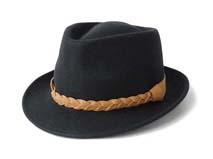 黑白视频体育直播-羊毛定型毡帽 爵士帽定做-DW043