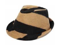 凯维帽业-拼色定型毡帽 礼帽定做 -DW047