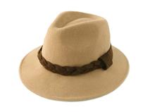 凯维帽业-外贸出口100%羊毛小辫子定型毡帽 礼帽工厂加工定做-DW054