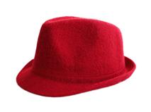 凯维帽业-女士纯色简约毛呢定型礼帽专业生产定做定制 广州 秋冬-DW055