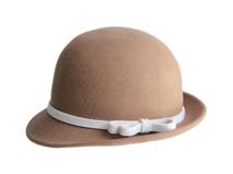黑白视频体育直播-纯色简约100羊毛蝴蝶结毡帽 定型礼帽外贸加工订制 -DW056
