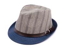 凯维帽业-条纹拼色定型草帽 爵士帽定做-DZ050
