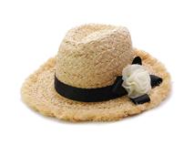 凯维帽业-磨边做旧粗草装饰花丝带遮阳草帽 工厂加工订做 女士-CZ075