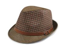凯维帽业-2015新款拼色皮带草编定型帽订做订制 时尚潮流 春夏 -CZ084
