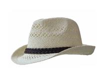 凯维帽业-小清新款白色小编辫子镂空透气草编定型礼帽定做定制-CZ088