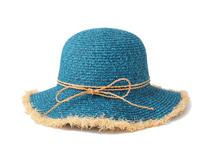 凯维帽业-纯色磨边做旧女士夏季纸草遮阳草帽 广州OEM定做-CZ093