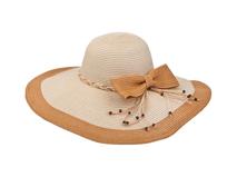 凯维帽业-拼色蝴蝶结超大边女士沙滩遮阳草帽 外贸OEM加工定做-CZ096